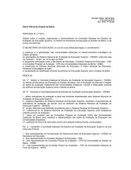 Diário Oficial do Estado da Bahia PORTARIA Nº 3.716/10