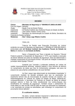 PODER JUDICIÁRIO DO ESTADO DA BAHIA