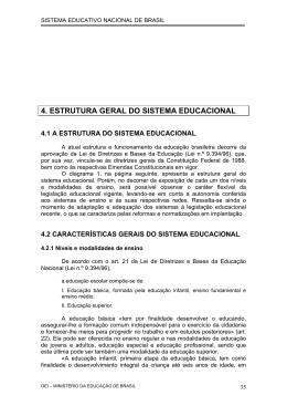 4. ESTRUTURA GERAL DO SISTEMA EDUCACIONAL