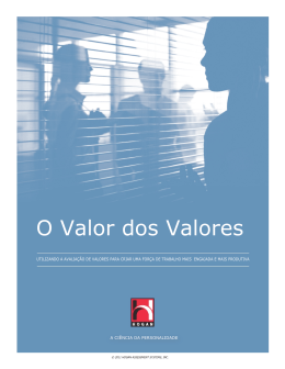 O Valor dos Valores