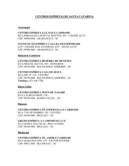 pdf centros espíritas de santa catarina