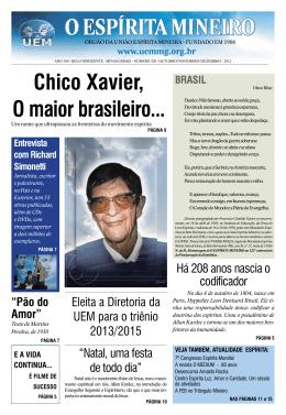 Espírita Mineiro - nº 320 - Outubro / Novembro / Dezembro 2012