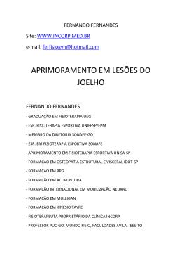 APRIMORAMENTO EM LESÕES DO JOELHO - INCORP