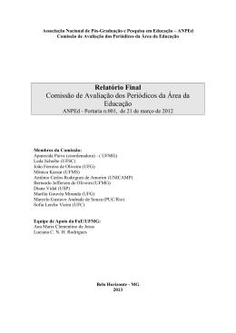 Comissão de Avaliação dos Periódicos da Área da