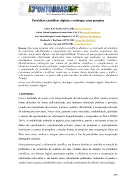 Periódicos científicos digitais e ontologia