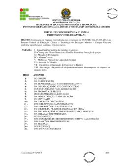 EDITAL DE CONCORRÊNCIA Nº 03/2014 PROCESSO Nº