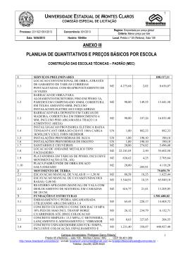 Anexo 3 - Planilha de Quantitativos e Preços Básicos