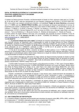 EDITAL - Ideflor - Governo do Estado do Pará