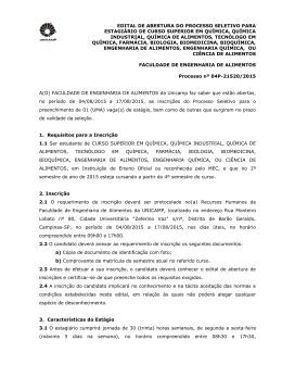 EDITAL DE ABERTURA DO PROCESSO
