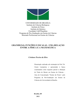 proposição - Pós-Graduação em Ensino de Ciências da UnB