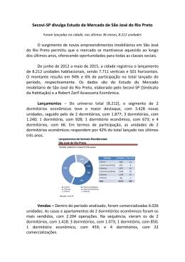 Estudo do Mercado Imobiliário de São José do Rio Preto - Secovi-SP