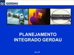 Planejamento Integrado Gerdau • Prêmio