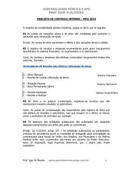 contabilidade pública e afo prof igor n oliveira
