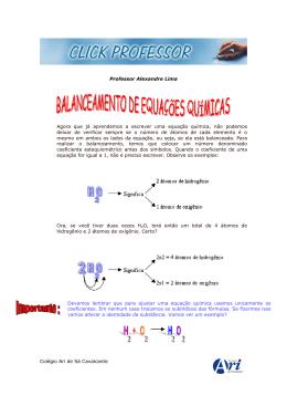 Balanceamento equação química - Colégio Ari de Sá Cavalcante