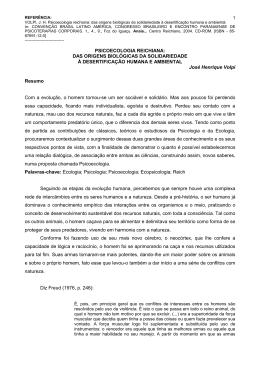 PSICOECOLOGIA: Estuda o comportamento eas relações dos seres