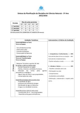 Síntese Planif CN 5ºano 2015-2016