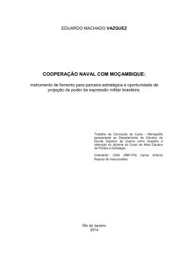 VAZQUEZ, Eduardo Machado. Cooperação naval com Moçambique