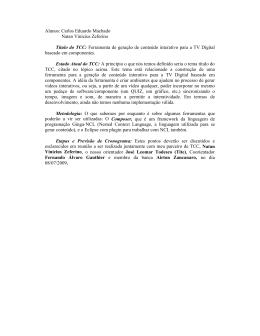 Alunos: Carlos Eduardo Machado Natan Vinícius Zeferino Título do