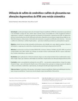 Utilização de sulfato de condroitina e sulfato de