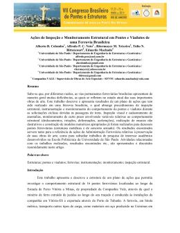 Ações de Inspeção e Monitoramento Estrutural em Pontes e
