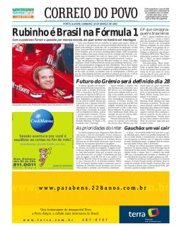Rubinho é Brasil na Fórmula 1