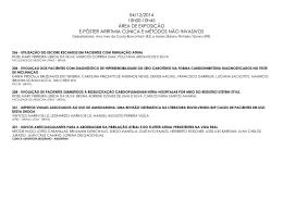 04/12/2014 10h00-10h45 ÁREA DE EXPOSIÇÃO E