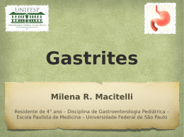 Gastrites - The Eletronic Journal of Pediatric Gastroenterology