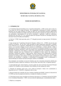 ministério da integração nacional termo de referência 1