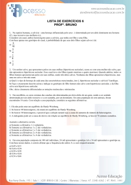 LISTA DE EXERCÍCIOS 6 PROFº. BRUNO