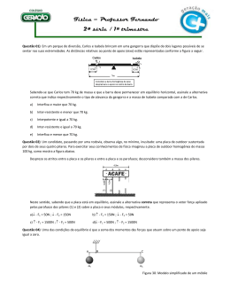 Física – Professor Fernando 2ª série / 1º trimestre