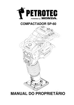 manual do proprietário - Petrotec Equipamentos para Construção