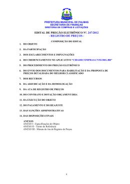 edital de pregão eletrônico nº. 247/2012 - registro