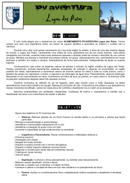 "Manual do Participante ""Lagoa dos Patos"" - Palavra da Vida"