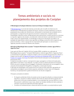 Temas ambientais e sociais no planejamento dos projetos do