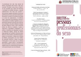 Direitos das Pessoas Profissionais do Sexo