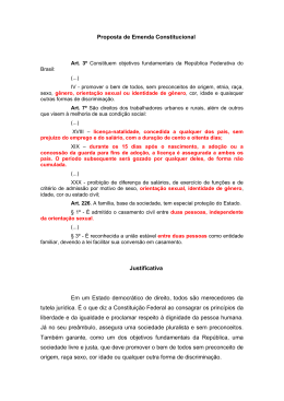 Proposta de Emenda Constitucional Justificativa Em um Estado
