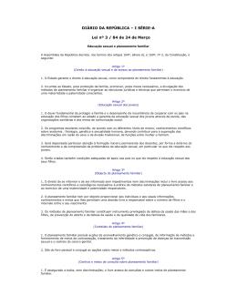 Lei 3/84 - Associação para o Planeamento da Família