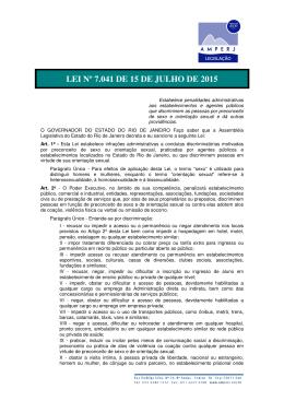 LEI Nº 7.041 DE 15 DE JULHO DE 2015
