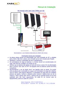 Manual de Instalação - Kasatec Energia Solar