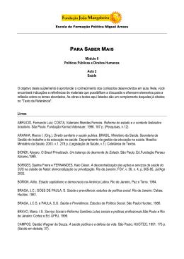 Módulo III Políticas Públicas e Direitos Humanos