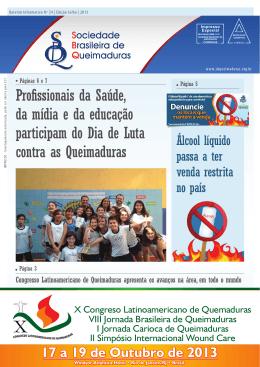 aqui - Sociedade Brasileira de Queimaduras
