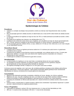 Epidemiologia da Cefaleia - International Association for the Study