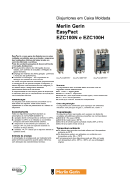 Merlin Gerin EasyPact EZC100N e EZC100H
