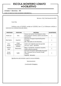 aviso: nº 06/2015 - Escola Monteiro Lobato