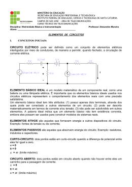 Elementos de Circuitos - Ass. Resistores - Kirchhoff - IF
