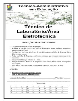 prova: tec. lab. / área de eletrotécnica