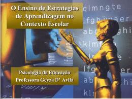 O Ensino de Estrategias de Aprendizagem no Contexto Escolar