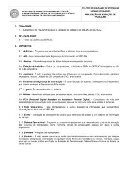 Norma de Utilização da Estação de Trabalho