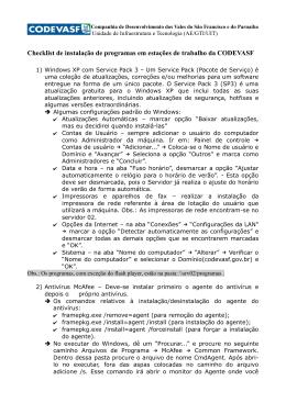 Checklist de instalação de programas em estações de trabalho da