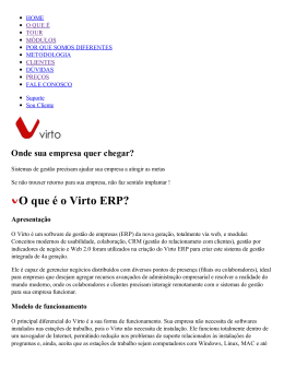 O que é o Virto ERP?